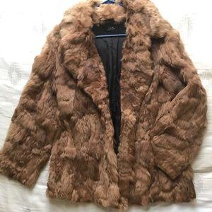 Jackets & Blazers - Brown Burning Man Fur Coat
